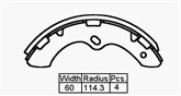 BRAKE SHOES - CANTER FB100 1978>