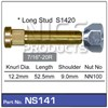 "WHEEL STUD & NUT - 7/16""-20R"