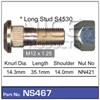 WHEEL STUD & NUT - M12X1.25